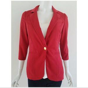 Charlotte Russe Red Blazer Jacket